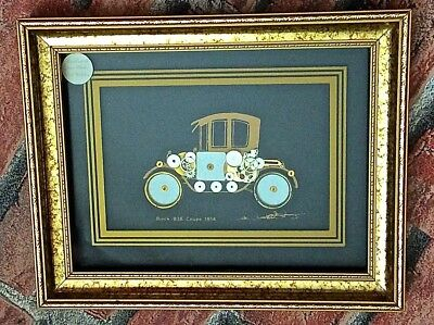 Ken Broadbent hand made picture  from  clock & watch parts car Buick B38Coupe 1