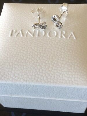 Genuine Silver925 Pandora Infinity Stud Earrings