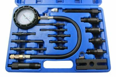 US PRO 16pc Diesel Engine Cylinder Pressure Compression Tester Set 5387
