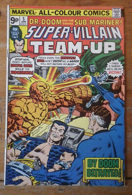 Super- Villain Team- Up 5 Marvel comics 1976  FN (?) pence copy