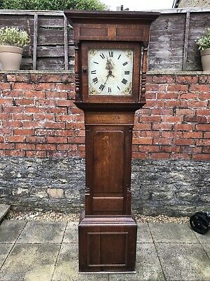 Geogian Oak Long Case Clock/Grandfather Clock,Signed Enoch Warwick,30hr Movement