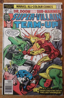 Super- Villain Team- Up 9 Marvel comics 1976  VG+ (?) pence copy
