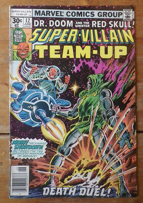Super- Villain Team- Up 12 Marvel comics 1977  FN (?) cents copy