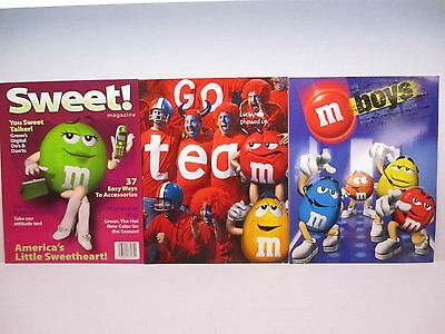 3~M&M's & Mead 2-Pocket Student/School Portfolios/Folders W/M&M Characters~NOS~