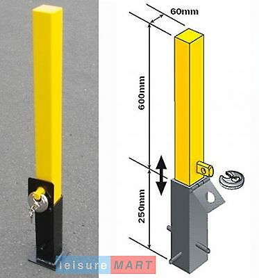 Security parking post removable - lift out parking bollard - heavy duty MP9731