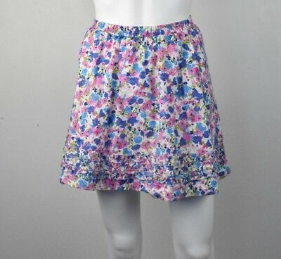 L.L. BEAN Girl's Size 10 Floral Cotton Skirt Elastic Band