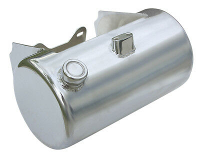 Ultima Chrome Plated 3.5 Quart Oil Tank, Side Fill for Twin Cam Softail Models