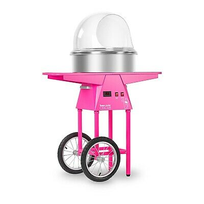 Candy Floss Machine With Cart Cotton Candy Maker Undercarriage Set Pink New