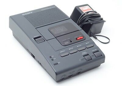 Sony M-2020 Microcassette Dictator Transcriber Tape Recorder w/ OEM Power Supply