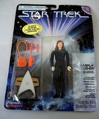"""Limited To 10,000 Star Trek Generations Playmates 5"""" Beverly Crusher Figure"""