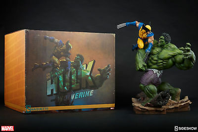 Hulk and Wolverine VS Maquette Sideshow Collectibles Statue New 977/4000