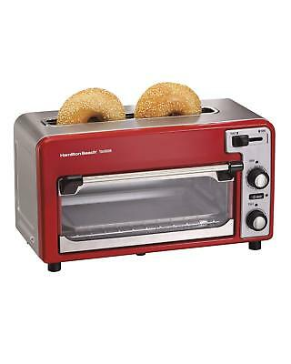 New Hamilton Beach General Ensemble Toastation 2-Slice Electric Toaster Oven Red