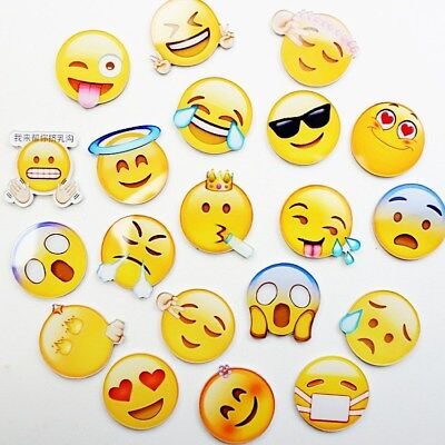 10 PCS Expression Glass Emoji Fridge Magnet Note office Message Decor Sticker