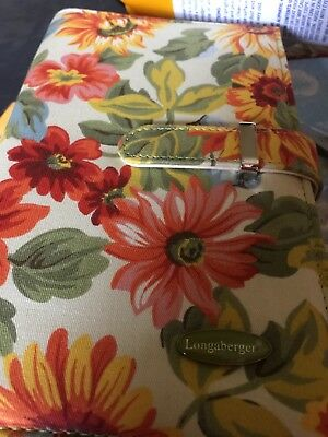 Longaberger  homestead sunflowers  FABRIC PLANNER Appointments new