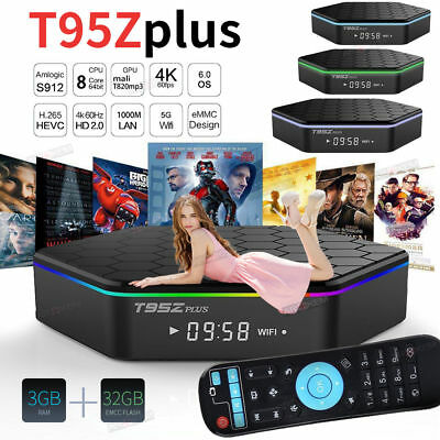 Android 6.0 TV Box T95Z Plus S912 2GB+16GB Octa Core KD 17.3 2.4 / 5 Ghz Dual