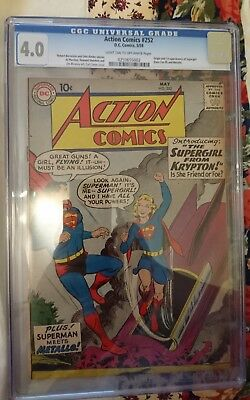 Action comics #252 Origin and first appearence of Supergirl CGC 4.0