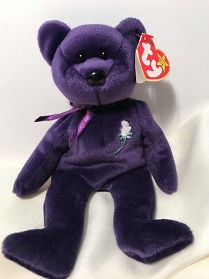 RETIRED TY PRINCESS DIANA BEANIE BABY RARE Bear Collectible 1997 PE PELLETS a48bfc84537