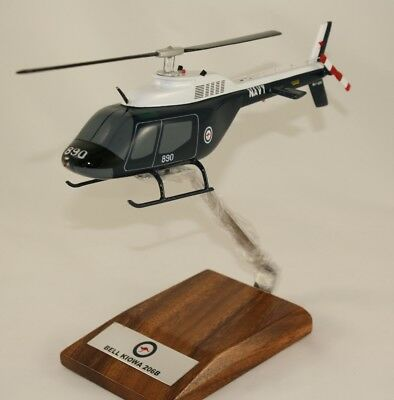 Ran Bell Kiowa 206B - Large 1:48 Scale Precision Handcrafted Desk Model