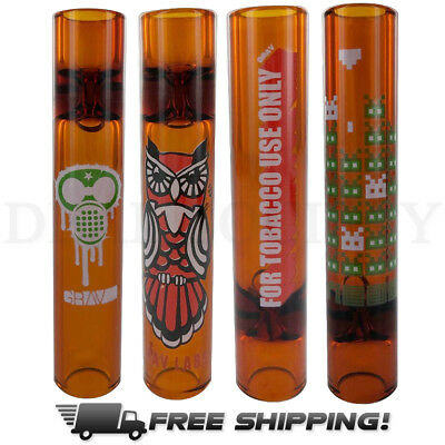 "Grav Labs 3.25"" Mini Glass Steamroller Choose Your Design - Orange"