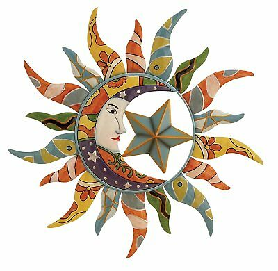 Metal Wall Art Mexican Moon Star Hanging Garden Decor Home Indoor Outdoor  Patio