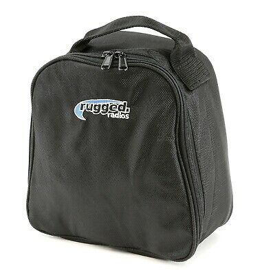 Rugged Radios Headset Bag Zip-Up Cover Storage Carrying Case w/ Front Pocket