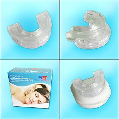 Snoring Science Adjustable Snoring Mouth guard and BONUS Nasal Dilator Set, Anti