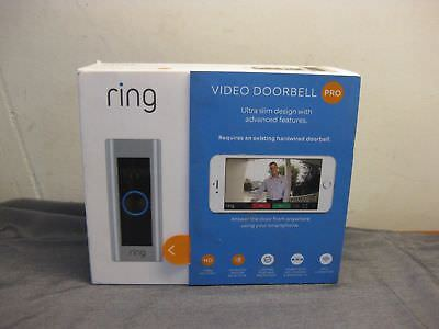 New In Box Ring Video Doorbell Pro Wi-Fi Enabled Motion Detection Missing Parts!