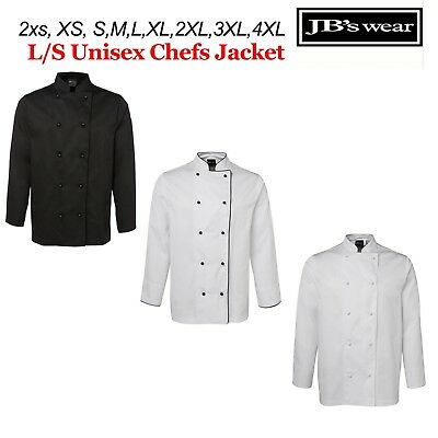 Chefs Jacket LONG Sleeve JBs Wear 2XS XS S M L XL 2XL 3XL 4XL - 5CJ
