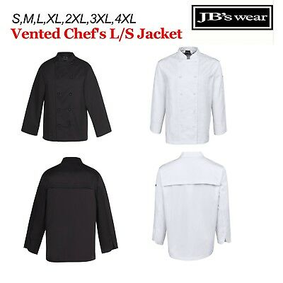 VENTED Chefs Jacket LONG Sleeve JBs Wear  S M L XL 2XL 3XL 4XL - 5CVL