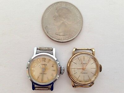 Lot of 2 Vintage Timex Ladies 17 Jewel Watches with Second Hand
