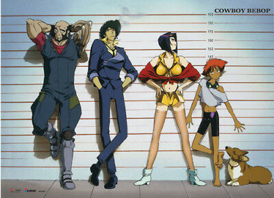 **Legit Poster** Cowboy Bebop Spike Jet  Faye Line Up Authentic Wallscroll#60929
