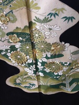 Japanese Vintage Embroidered Kimono Costume Robe Hand Made One of a Kind
