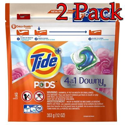 Tide 4-in-1 Downy Pods, April Fresh, 12oz, 2 Pack 037000977797A557