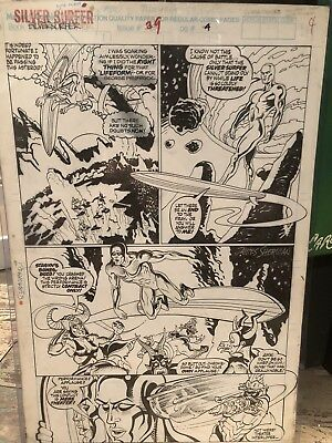 Marvel Silver Surfer Every Panel 39 Pg Page 20 Jim Sherman Original Comic Art