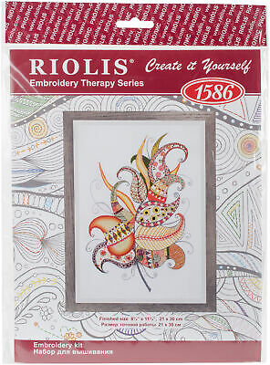 "RIOLIS R1644 Santorini Counted Cross Stitch Kit-15.75/""X12/"" 14 Count"