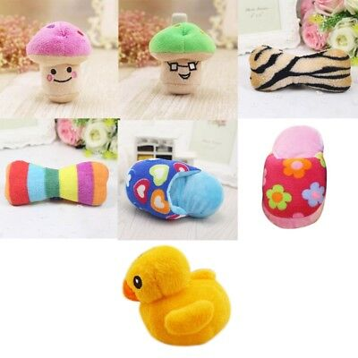 UK Funny Soft Pet Puppy Chew Play Squeaker Squeaky Cute Plush Sound Dog Toys Hot