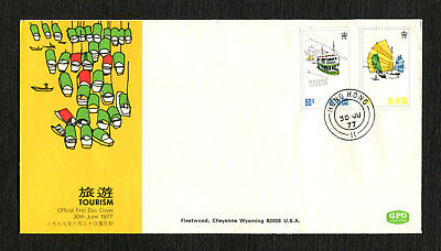 Hong Kong Stamps Fleetwood First Day Cover (FDC) Tourism 1977