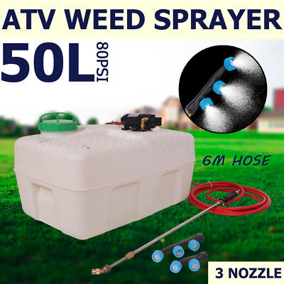 50L ATV Weed Sprayer Sport Spary Tanks Unit Chemical Garden Farm Water Pump 12V