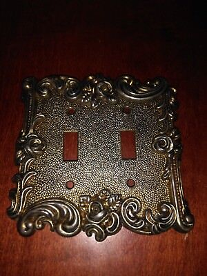 American Tack & Hardware Double Light Switch Cover Rose 60TT 1967