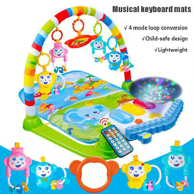 Foot Play Piano Musical Lullaby Baby Activity Playmat Gym Toy Soft Play Mat