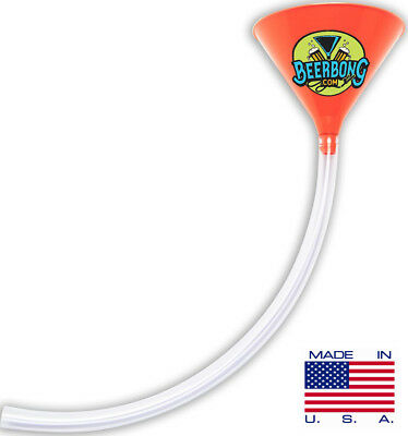 Large Beer Bong Funnel (2' Long) Fun for Tailgating | Orange Funnel |Made in USA