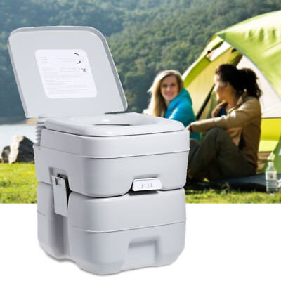 5 Gallon 20L Portable Toilet Flush Travel Camping Outdoor/Indoor Mobile Commode