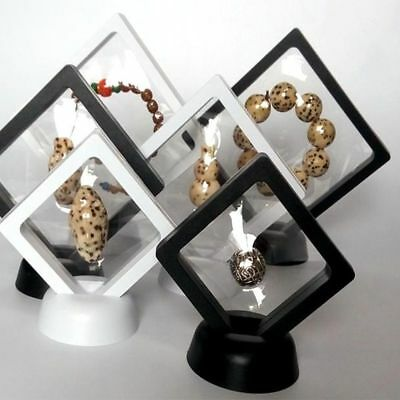 Coins 3D Floating Frame Album Photo Show Case Stand Holder Box Display