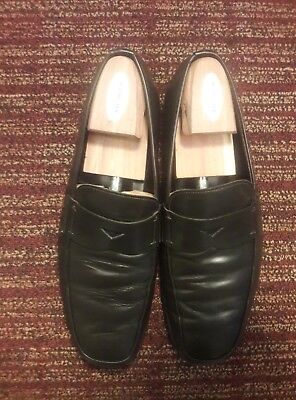 0e9f498f23d2 Prada Mens Dress Shoes Penny Loafers Slip Ons Leather 8 D Italy Made