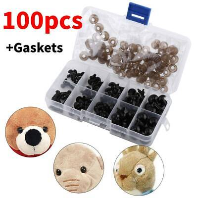 100Pcs/Box 6-12mm Plastic Safety Toy Eyes For Teddy/Bear/Doll Animal Puppets DIY