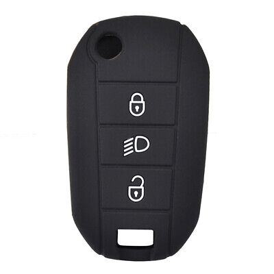 Silicone Key Cover Case For Peugeot 508 3008 308 208 2008 Remote Fob Protector