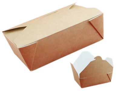 50 Lunchboxen nature, Food to go, 14x10x5 cm 750ml (234886)