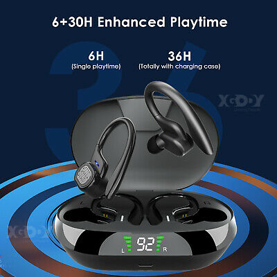 XGODY Wireless Headphones Earbuds Stereo Bluetooth V5.0 Running Sport Earphones