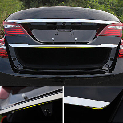 Tail Gate Cover Trim For Honda Accord 2014-2017 Chrome Rear Trunk Accent Molding