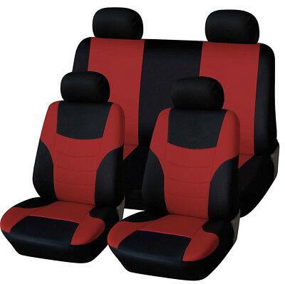 Black Car Seat Covers Set Protector Set 8Pcs/Set Hulk Popular Universal Fit